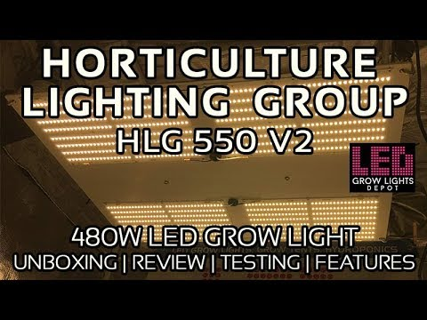 HLG 550 V2 LED Grow Light Review, Unboxing, and PAR Testing