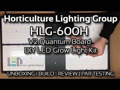 Horticulture Lighting Group HLG-600H V2 Unboxing, Build, Review, & PAR Testing