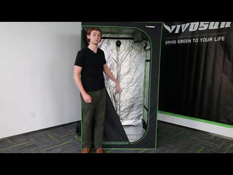 VIVOSUN 4X4 Mylar Hydroponic Grow Tent Setup & Installation