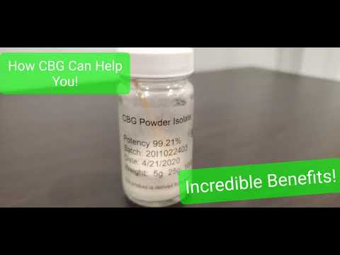 Can CBG (Cannabigerol) Help You?
