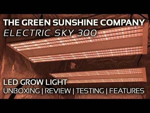 Electric Sky ES300 LED Grow Light Unboxing, Review, PAR Testing