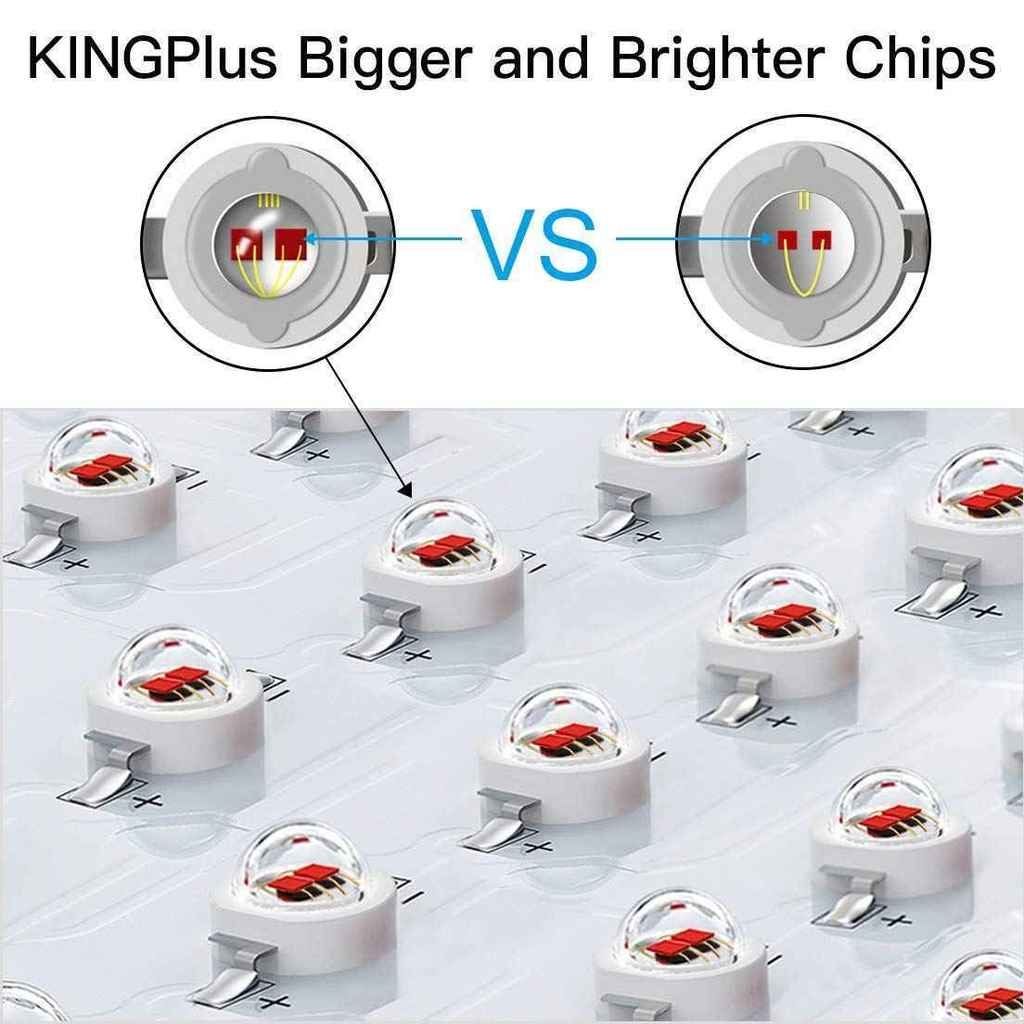 Comparatively Bigger and Strong Diodes for King Plus 1200 Watt LED Grow Light Review