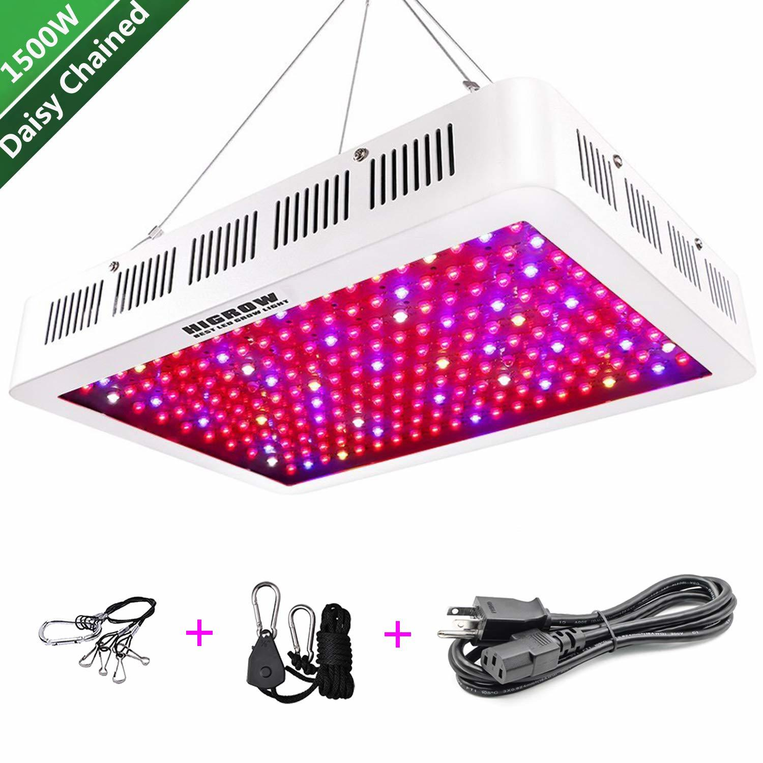 Higrow 1500W LED Grow Light For People with 200 Budget