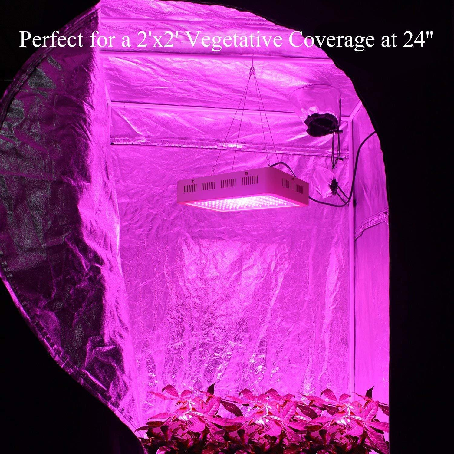 In Grow Tent - Galaxyhydro 1000W Grow Light