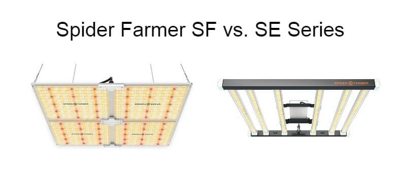 spider farmer sf vs se grow light