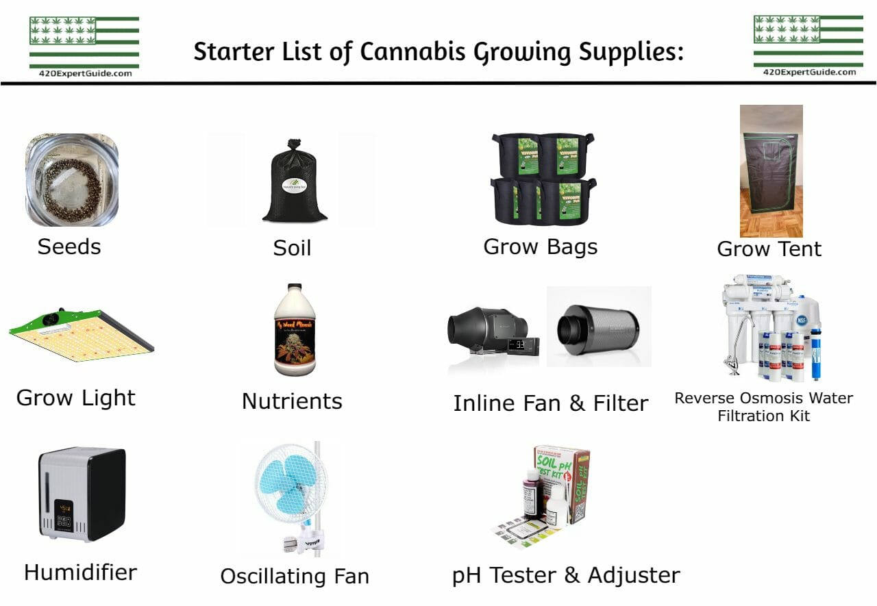 Grow Cannabis At Home Supplies