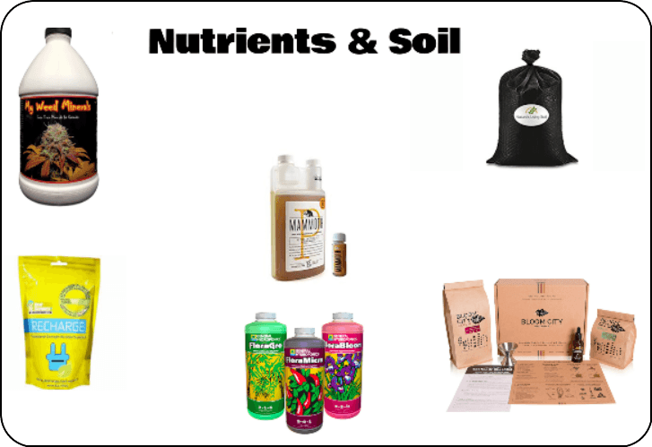 nutrients and soil for cannabis