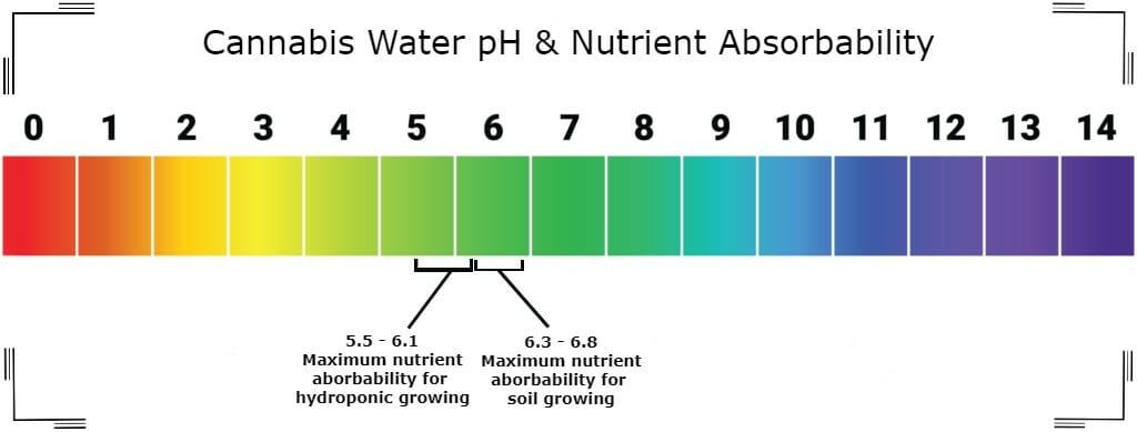 cannabis water ph chart
