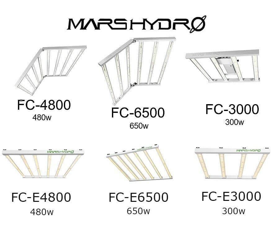 Mars Hydro FC grow light and Mars Hydro FC-E grow light